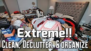 Extreme Transformation Clean, Declutter, & Organize My Closet Cleaning My Closet Real Life Hoarders