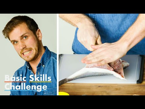 50 People Try to Fillet a Fish | Basic Skills Challenge | Epicurious