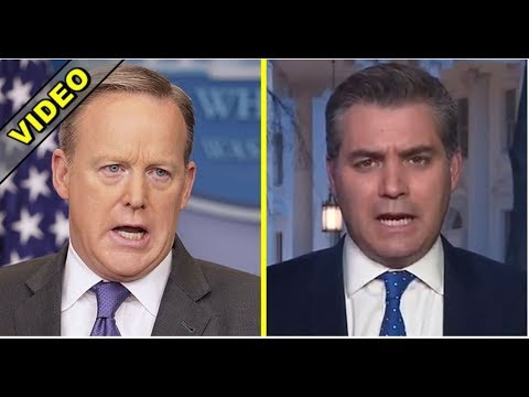 WATCH WHAT JIM ACOSTA THINKS OF TRUMP VOTERS!  SEAN SPICER CALLS HIM OUT!