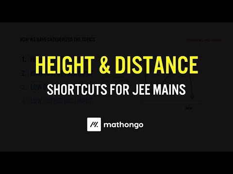 Height & Distance for JEE Mains - Shortcuts to solve Quickly | Past Year JEE Mains Problem