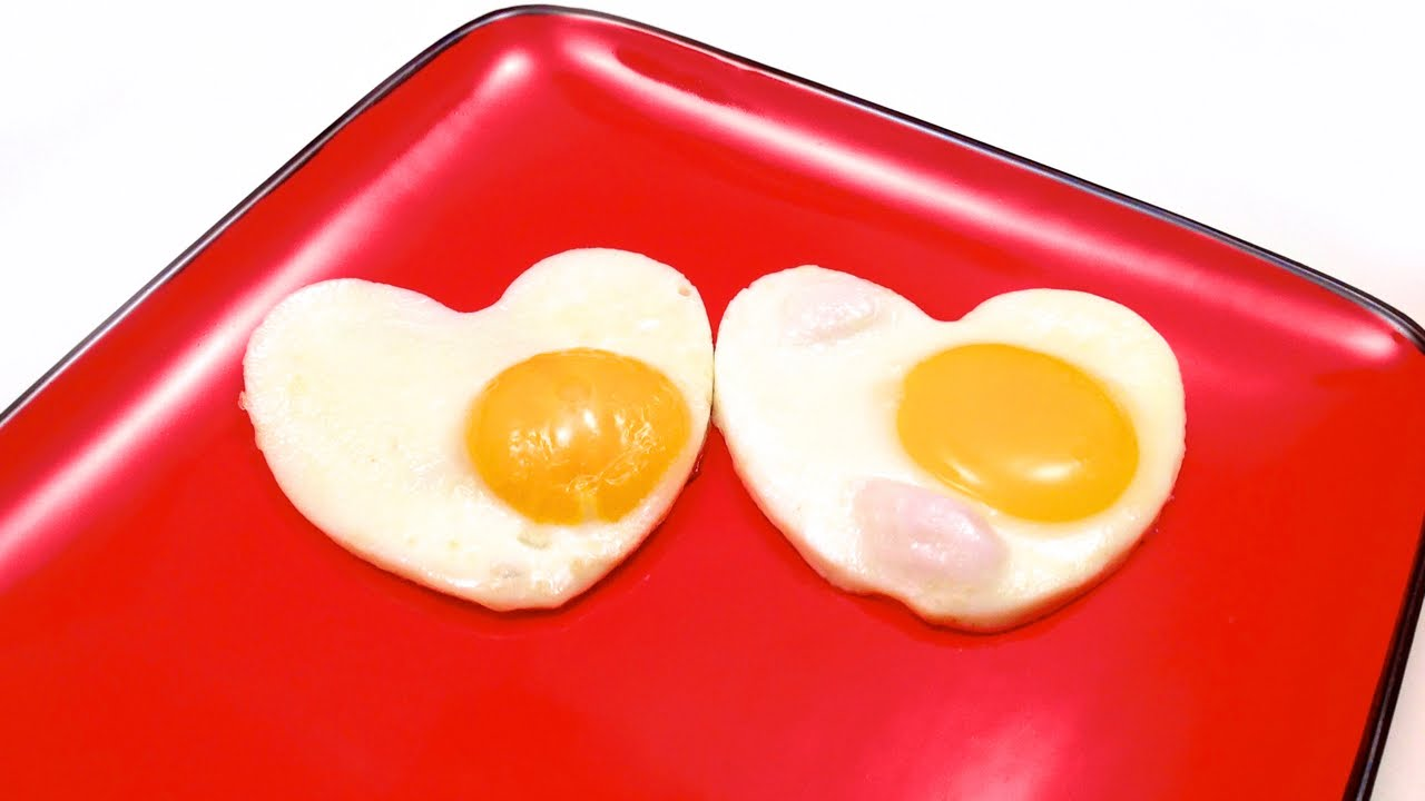 How to Make Heart Shaped Sunny side up Eggs (HD) - YouTube