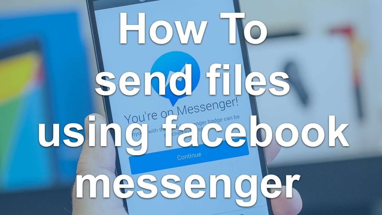 how to add file in facebook messenger