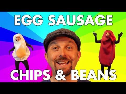 The Lancashire Hotpots - Egg Sausage Chips & Beans