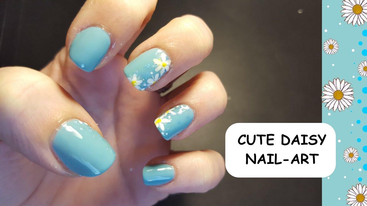 easy daisy nail-art spring nails