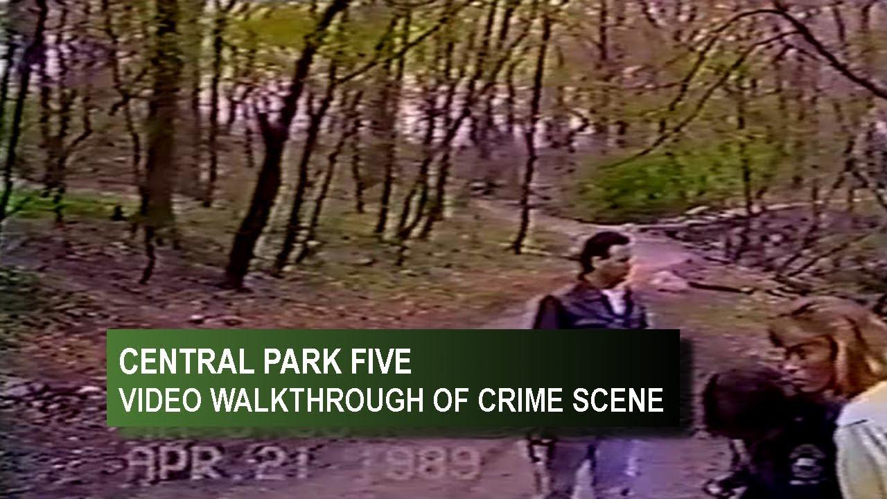 Central Park Five Police Video Of Crime Scene Youtube