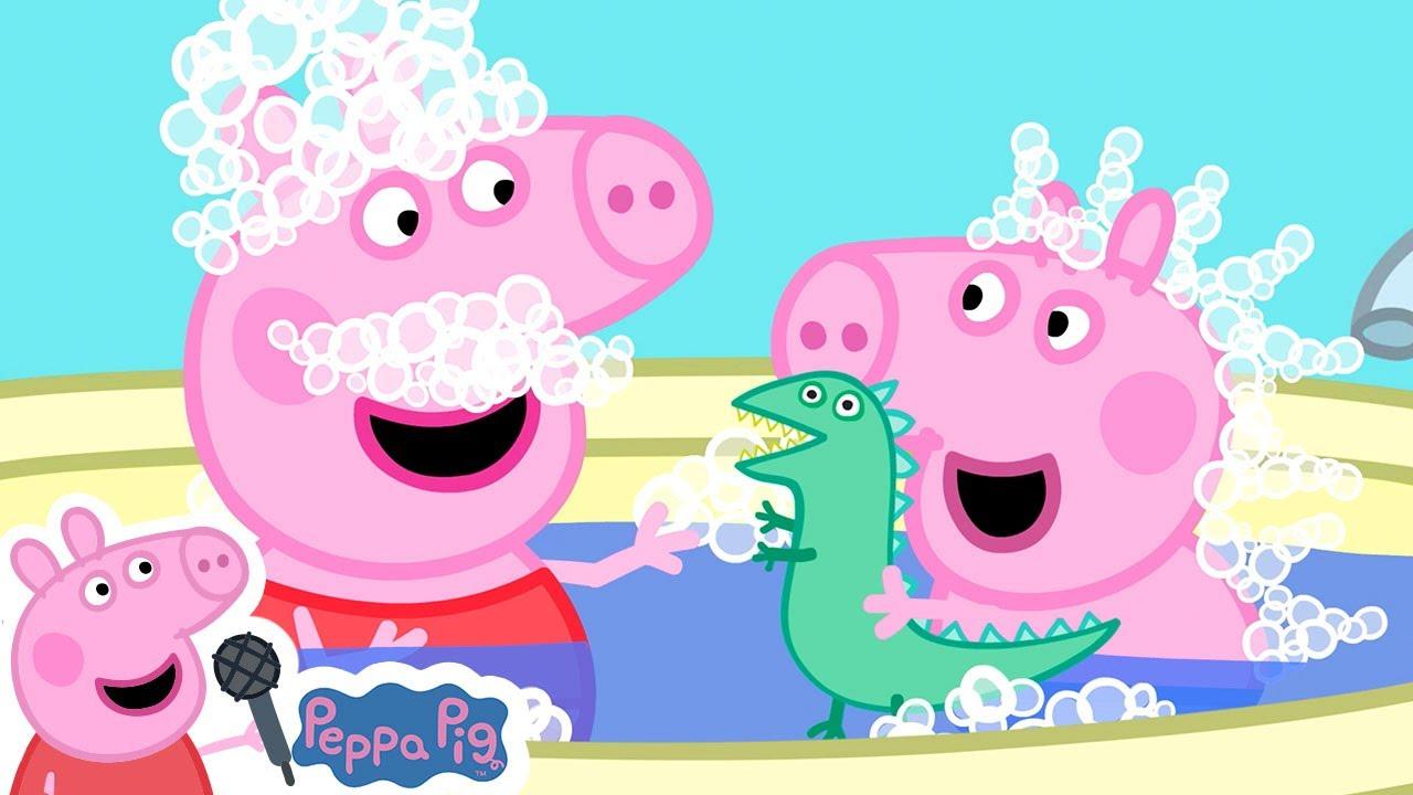 Peppa Pig Bath Song | Miss Polly | Peppa Pig Songs | Peppa Pig Nursery Rhymes & Kids Songs