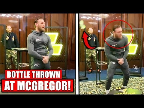 Conor Mcgregor Attacked With Bottle In Moscow Different Angles Youtube