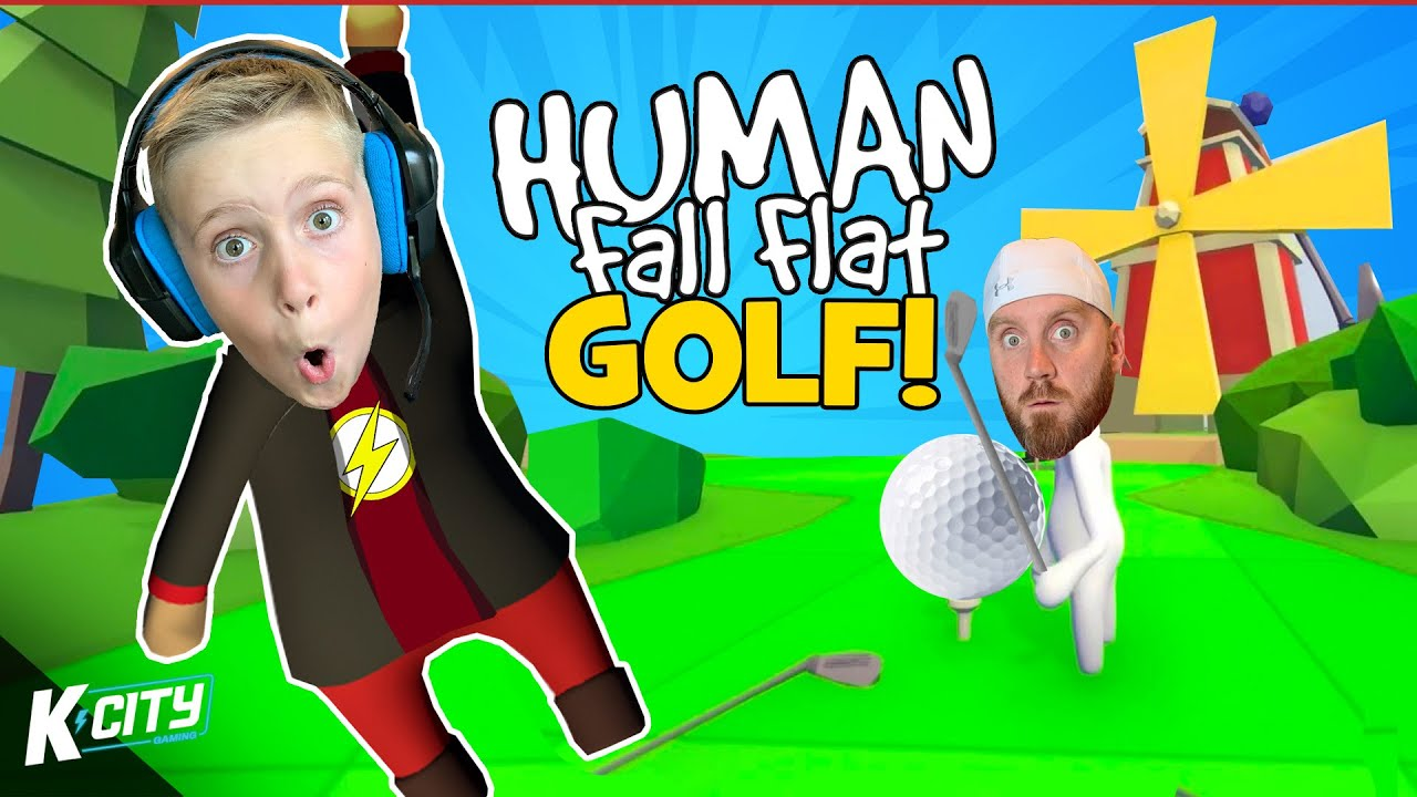 Human Fall Flat GOLF!!! (Race to the Final HOLE Challenge) K-CITY GAMING