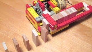 Lego domino row building machine