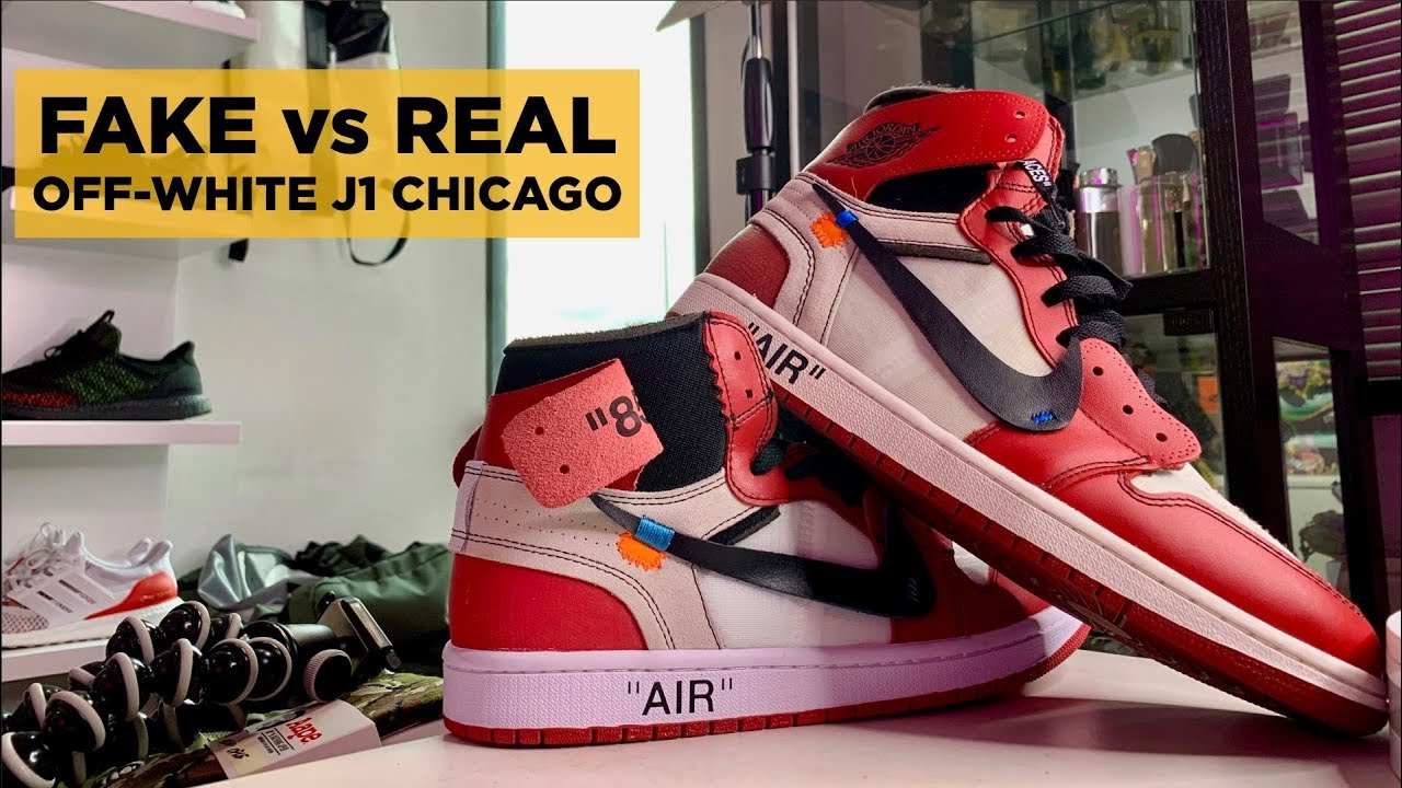 REAL vs FAKE: OFF-WHITE JORDAN 1 CHICAGO LEGIT CHECK
