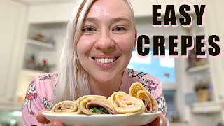 Easy Sweet or Savoury Crepe Recipe -  Martina's Midnight Munchies