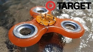 TARGET Fidget Spinner Unboxing Review and Durability Test. Glow in the dark fidget spinner.