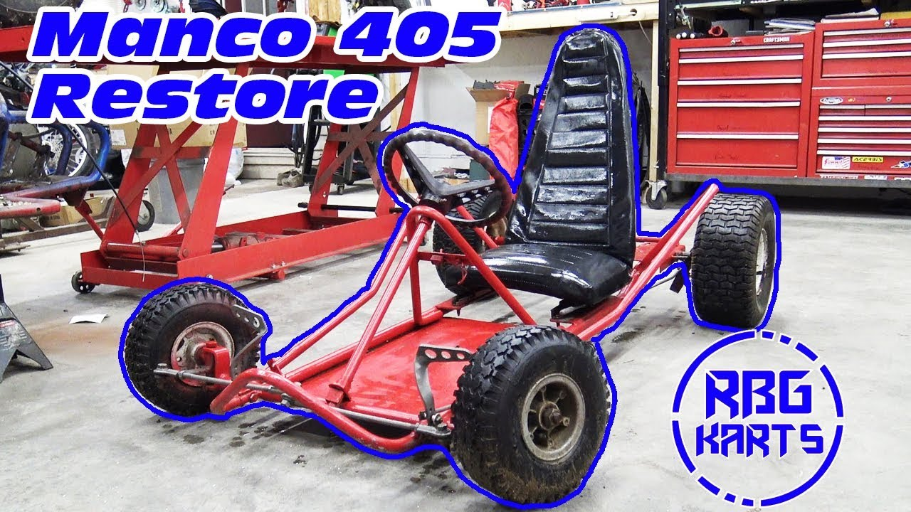 Manco 405 Restoration Ep1 ~ WORLDS FASTEST GO KART?!?! - no