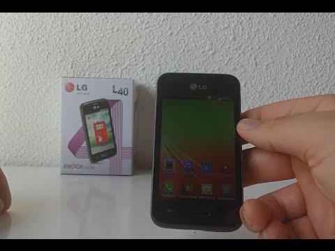 Desempaquetado y configuración del LG L40