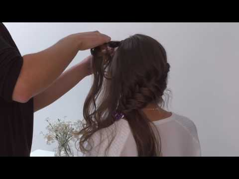 Side Fishtail Plait Wedding Hair