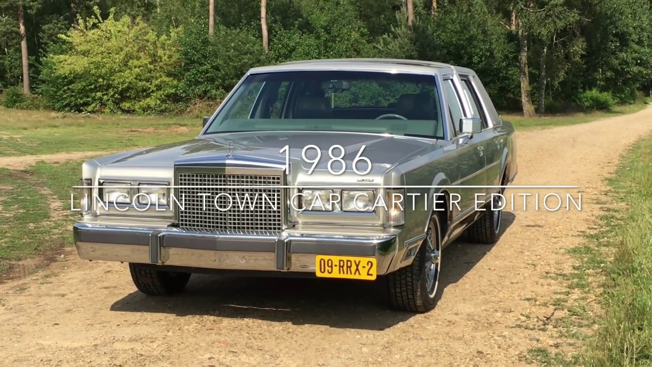 Lincoln Town Car Cartier Edition 1986 Youtube