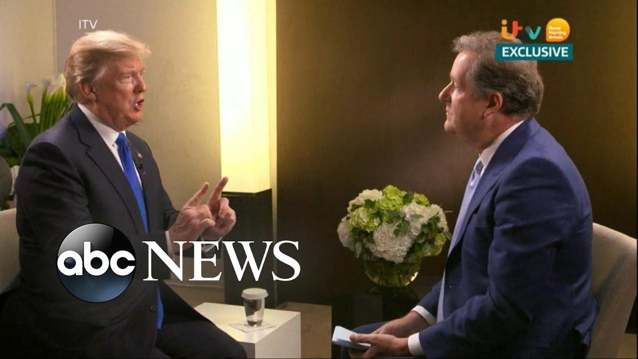 Piers Morgan interviewed President Trump