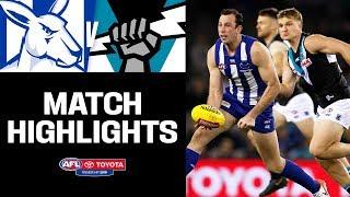 Brown bags 10 goals   North Melbourne v Port Adelaide Highlights   Round 22, 2019   AFL
