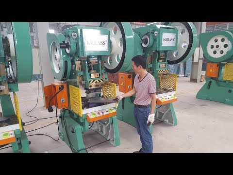 Automatic Power Press Machine Punching Machine With The Die Shearing Circle From Krrass Youtube