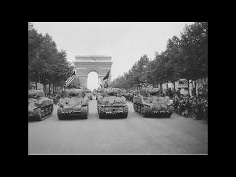 US 28th Division Parades in Paris, France; Celebration (Montesson)