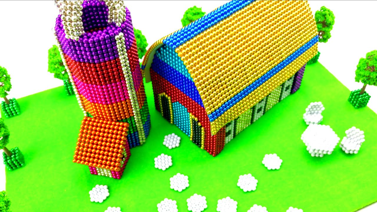 How to build a Cow Farm from Magnetic Balls with @LAC TV