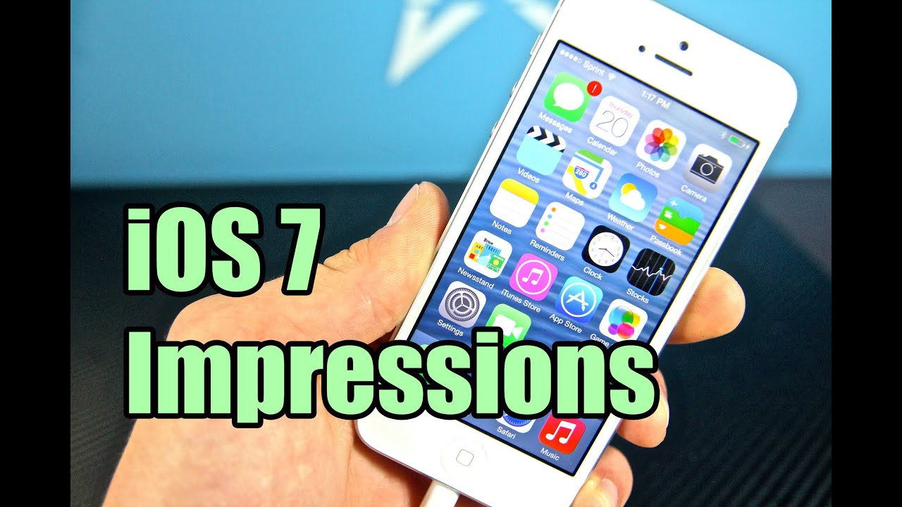 iOS 7 Impressions - Should You Update?