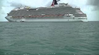 Carnival Dream Exterior Shots from Tender