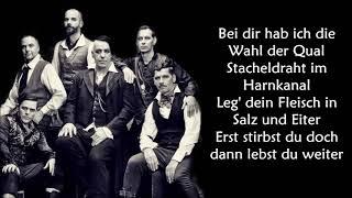 Rammstein - Ich tu die weh LYRICS ||Ohnonie (HQ)