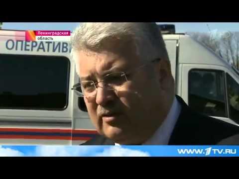 Серьезная авария произошла в Ленинградской области на трассе у города Пикалёво