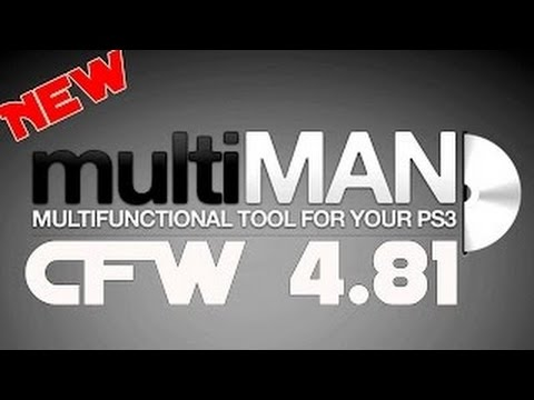 PS3 multiMAN 04 81 01 by deank Support CFW...