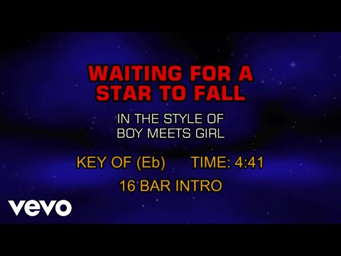 Boy Meets Girl  Waiting For A Star To Fall Karaoke
