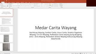 Download Lagu ( B Sunda Kelas XII) Medar Carita Wayang - SMA IT AL ICHWAN mp3