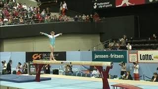 Yana Demyanchuk (UKR) Balance Beam Team Qualifications 2010 Rotterdam World Championships