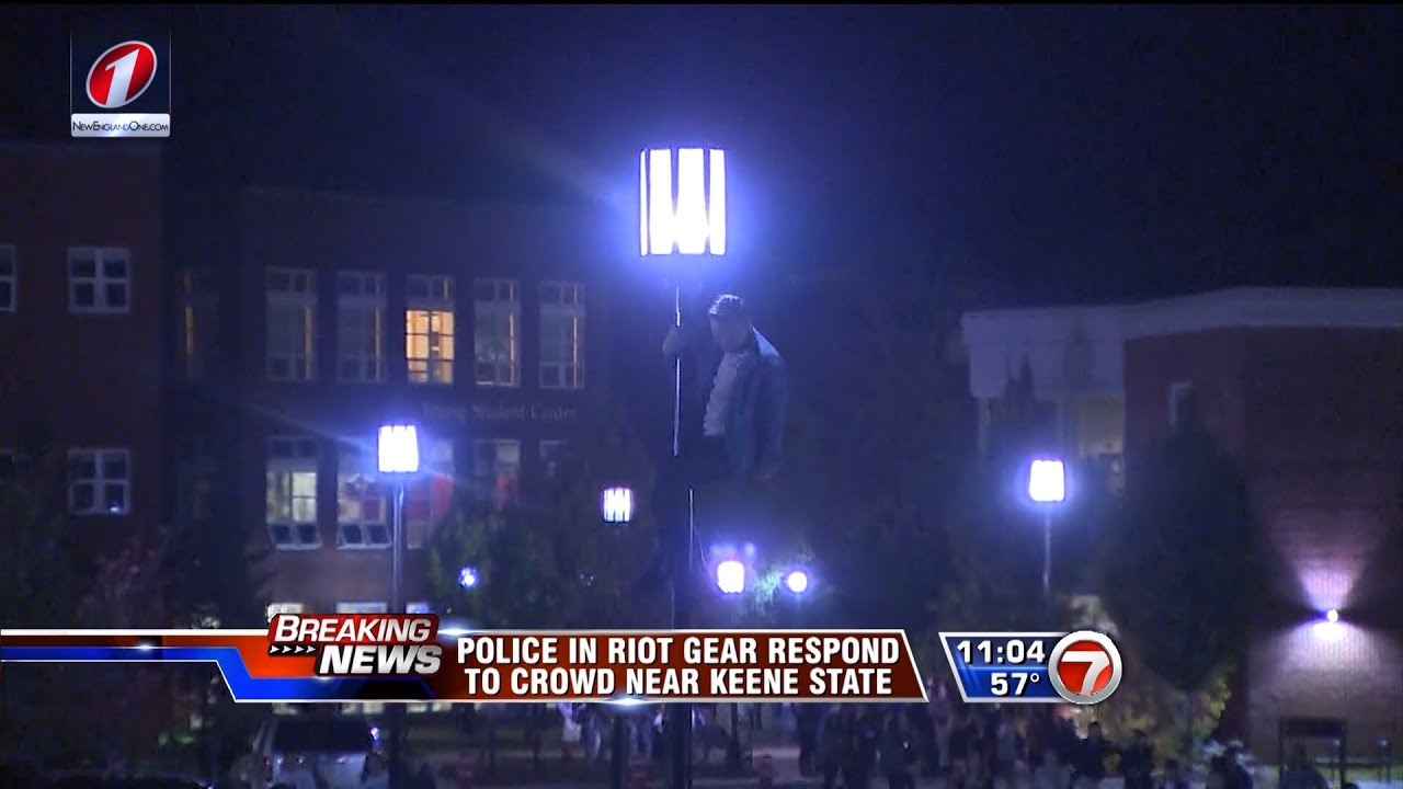 WHDH 7 News at 11 - Keene, NH Riot Coverage Clips - 10/18/2014