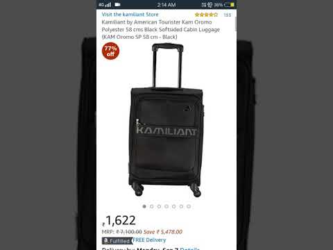 77% off : Kamiliant by American Tourister Kam Polyester 58 Luggage (KAM Oromo 58 cm - Black) @1622