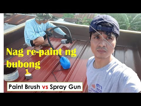 PAANO MAG REPAINT NG COLOR ROOF (HOW TO REPAINT COLOR ROOF)