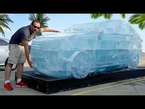 Como é feito um carro de gelo #Boravê