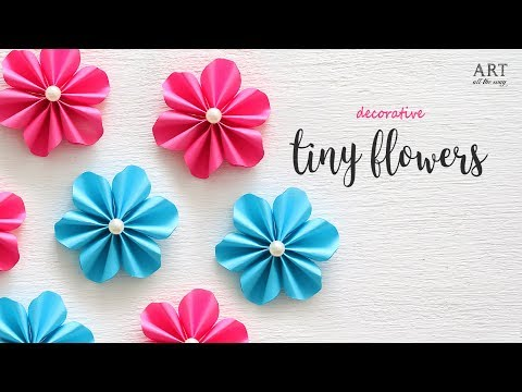 DIY Tiny Paper Flowers | Flower Making | DIY Flower