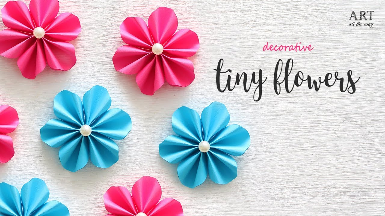 Diy tiny paper flowers flower making diy flower youtube diy tiny paper flowers flower making diy flower mightylinksfo