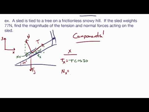 Newton's 2nd Law Examples: Calc Physics