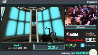 Awesome Games Done Quick 2015 - Part 140 - Portal 2 by Znernicus