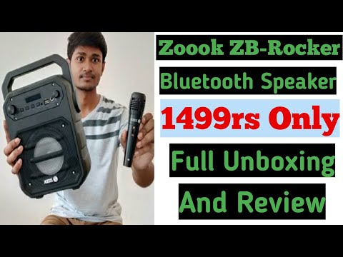 Zoook ZB-Rocker Thunder 20w Bluetooth speaker | Best Bluetooth Speaker With mic Under 1499