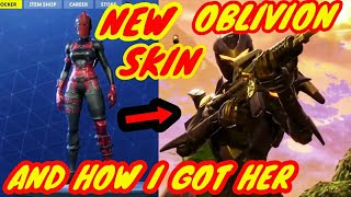 NEW Skin-OBLIVION!! And How I Got Her-Fortnite Battle Royale