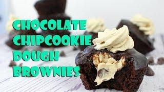 Vegan Chocolate Chip Cookie Dough Brownies  Gretchen&#39s Bakery