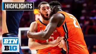Highlights: Illini Take Down #5 Wolverines | Michigan at Illinois | Dec. 11. 2019