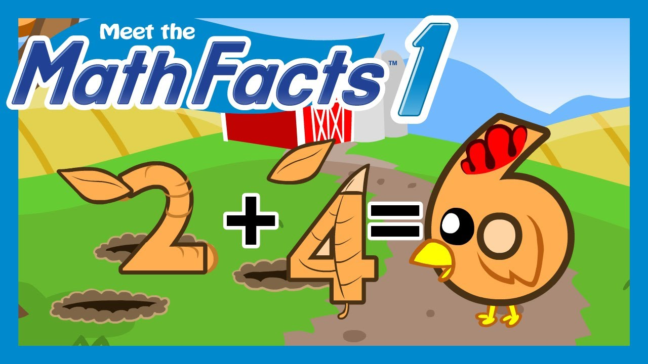 Meet the Math Facts Level 1 - 2+4=6 - YouTube