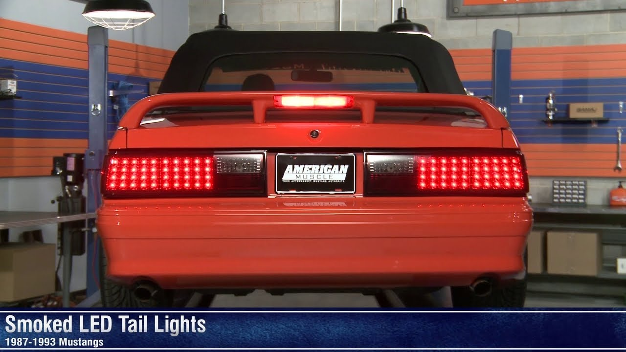 maxresdefault mustang smoked led tail lights (87 93 all) review youtube 93 Ford Mustang Wiring Diagram at beritabola.co