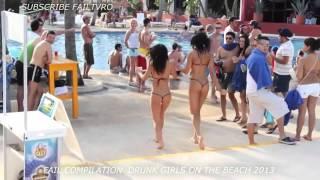 Приколы  на пляжах с девушками