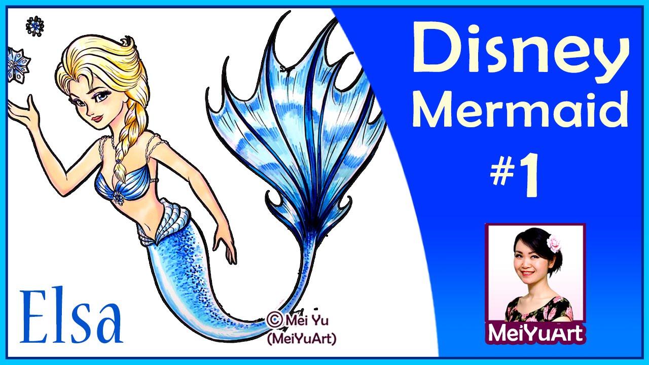 Disney Princess Mermaids - Elsa - YouTube