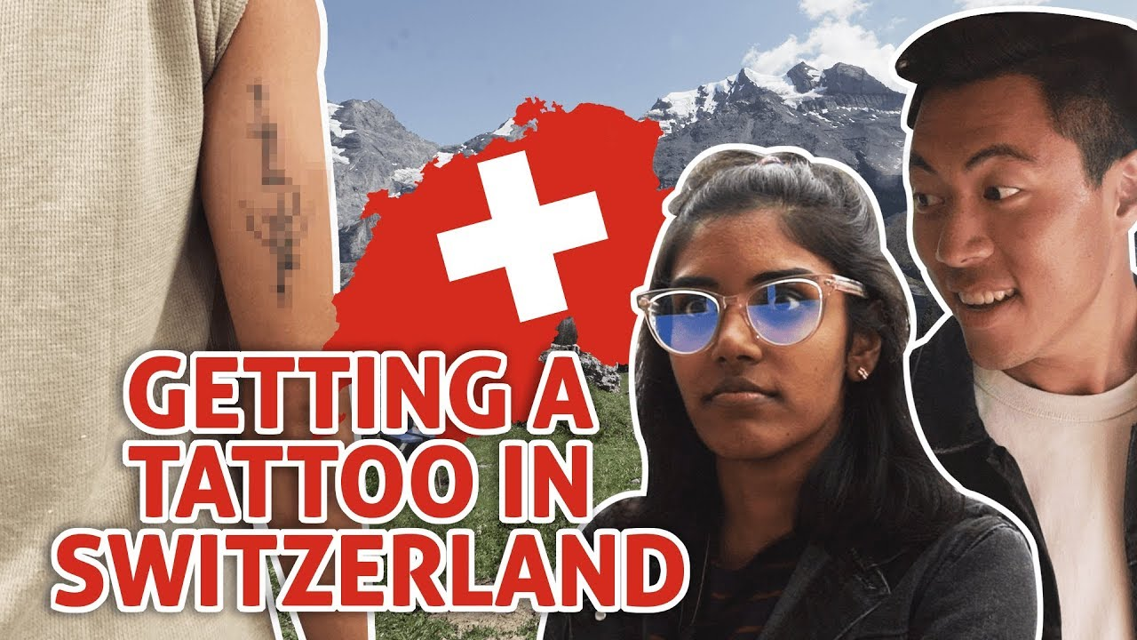 EXPLORING SWITZERLAND PART 1: GETTING A TATTOO + FINDING THE TOBLERONE MOUNTAIN   TSL Vlogs